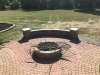 Firepit Extention and Seating Wall